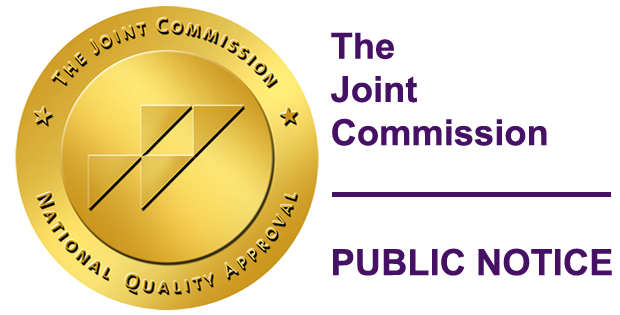 The Joint Commission Public Notice